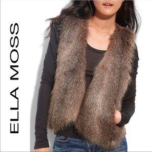 ELLA MOSS Kennedy faux fur open vest M/L